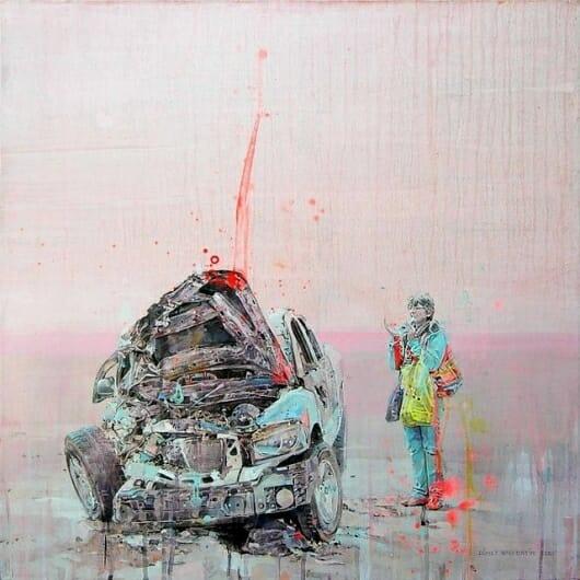 "(Artysta: Fernando Gómez Balbontín ""The Art of a Car Crash"")"