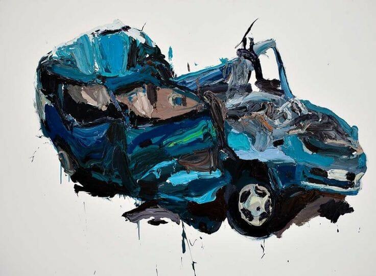 "(Artysta: Ben Quilty ""crash"" olej na płótnie 2009)"